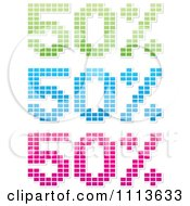 Clipart Green Blue And Pink Fifty Percent Off Mosaics Royalty Free Vector Illustration by Andrei Marincas