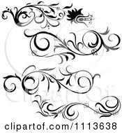Clipart Black Floral Design Elements Royalty Free Vector Illustration by dero