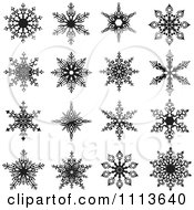 Clipart Black And White Snowflake Icons 2 Royalty Free Vector Illustration by dero