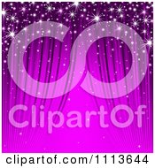 Clipart Background Of Sparkles And Purple Streaks Royalty Free Vector Illustration