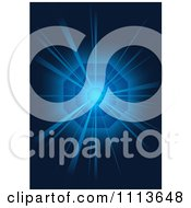 Clipart Blue Light Bursting From A Vortex Royalty Free Vector Illustration by dero