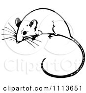 Clipart Vintage Black And White Mouse Royalty Free Vector Illustration by Prawny Vintage