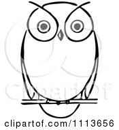 Clipart Vintage Black And White Owl Royalty Free Vector Illustration by Prawny Vintage #COLLC1113656-0178