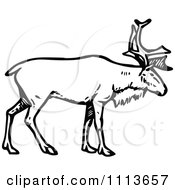 Clipart Vintage Black And White Stag Deer Royalty Free Vector Illustration by Prawny Vintage