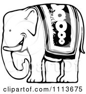 Clipart Vintage Black And White Circus Elephant Royalty Free Vector Illustration by Prawny Vintage