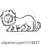 Clipart Vintage Black And White Circus Lion Royalty Free Vector Illustration by Prawny Vintage