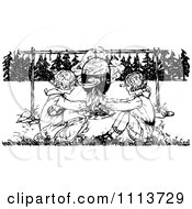 Clipart Illustration of a Weenie And Marshmallows On ...
