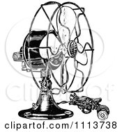 Clipart Vintage Black And White Electric Fan Royalty Free Vector Illustration by Prawny Vintage