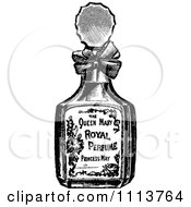 Clipart Vintage Black And White Bottle Of Perfume 1 Royalty Free Vector Illustration by Prawny Vintage