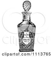 Clipart Vintage Black And White Bottle Of Perfume 2 Royalty Free Vector Illustration by Prawny Vintage