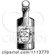 Clipart Vintage Black And White Bottle Of Cologne Royalty Free Vector Illustration by Prawny Vintage