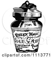Vintage Black And White Jar Of Cold Cream