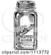 Clipart Vintage Black And White Canning Mason Jar Royalty Free Vector Illustration by Prawny Vintage