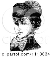 Clipart Vintage Black And White Lady Wearing A Hat 1 Royalty Free Vector Illustration by Prawny Vintage