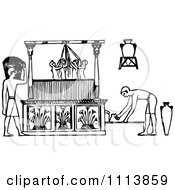 Vintage Black And White Ancient Egyptian Winepress Workers 1
