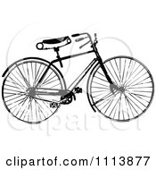 Clipart Vintage Black And White Bicycle 1 Royalty Free Vector Illustration by Prawny Vintage