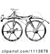 Clipart Vintage Black And White Bicycle 2 Royalty Free Vector Illustration by Prawny Vintage