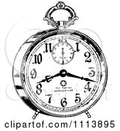 Clipart Vintage Black And White Alarm Clock 2 Royalty Free Vector Illustration