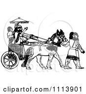 Clipart Vintage Black And White Assyrian Chariot Royalty Free Vector Illustration by Prawny Vintage