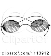 Clipart Vintage Black And White Spectacles Royalty Free Vector Illustration