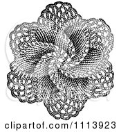 Clipart Vintage Black And White Doily Royalty Free Vector Illustration