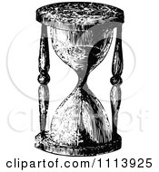 Clipart Vintage Black And White Egg Timer Hourglass Royalty Free Vector Illustration