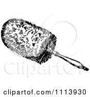 Vintage Black And White Cleaning Feather Duster