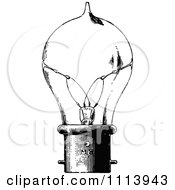 Clipart Vintage Black And White Lightbulb Royalty Free Vector Illustration by Prawny Vintage #COLLC1113943-0178
