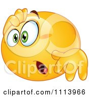 Clipart Amazed Yellow Emoticon Royalty Free Vector Illustration