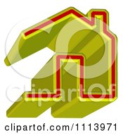 Clipart 3d Yellow And Red Home Page Icon Royalty Free CGI Illustration by MacX