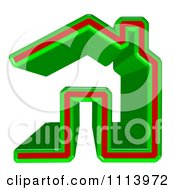 3d Green And Red Home Page Icon