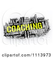 Clipart 3d Yellow And White Coaching Word Collage Royalty Free CGI Illustration