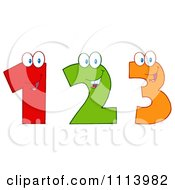 Clipart Happy 1 2 And 3 Numbers Royalty Free Vector Illustration by Hit Toon