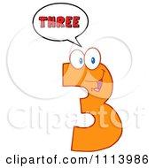 Clipart Talking Orange Three Mascot 2 Royalty Free Vector Illustration