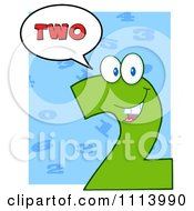 Clipart Talking Green Two Mascot 3 Royalty Free Vector Illustration