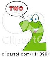 Clipart Talking Green Two Mascot 2 Royalty Free Vector Illustration