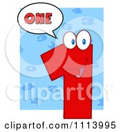 Clipart Talking Red 1 Mascot 3 Royalty Free Vector Illustration by Hit Toon