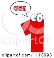 Clipart Talking Red 1 Mascot 2 Royalty Free Vector Illustration by Hit Toon