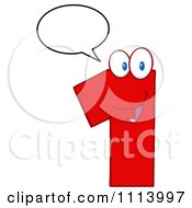 Clipart Talking Red 1 Mascot 1 Royalty Free Vector Illustration by Hit Toon