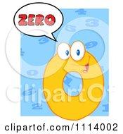 Clipart Talking Yellow Zero Mascot 3 Royalty Free Vector Illustration