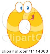 Clipart Yellow Zero Mascot Royalty Free Vector Illustration