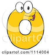 Clipart Yellow 0 Mascot Royalty Free Vector Illustration
