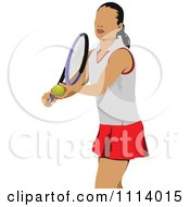 Clipart Female Tennis Player 6 Royalty Free Vector Illustration