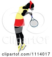 Clipart Female Tennis Player 5 Royalty Free Vector Illustration
