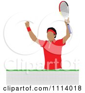 Clipart Male Tennis Player 3 Royalty Free Vector Illustration