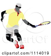 Clipart Male Tennis Player 2 Royalty Free Vector Illustration