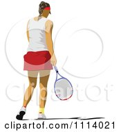 Clipart Female Tennis Player 4 Royalty Free Vector Illustration