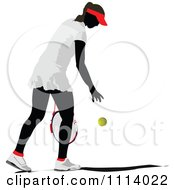 Clipart Female Tennis Player 2 Royalty Free Vector Illustration
