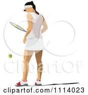Clipart Female Tennis Player 3 Royalty Free Vector Illustration