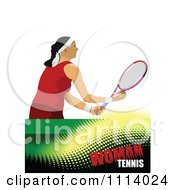 Clipart Female Tennis Player 1 Royalty Free Vector Illustration